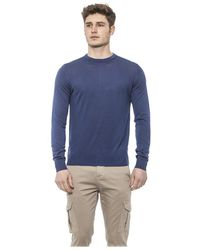 Alpha Studio Chambray Sweater - Blauw