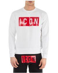 DSquared² Men's Sweatshirt Sweat Icon - Wit