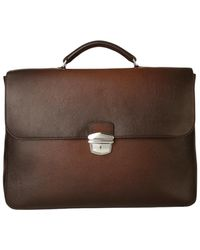 Orciani Leather bag micron deep - Marrón