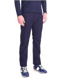 Trussardi 380 Icon Stretch Night Blue Jeans - Blauw