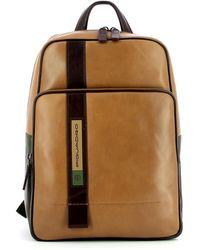 Piquadro Small Laptop Backpack Febo 11.0 - Naturel