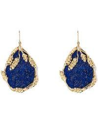 Aurelie Bidermann Françoise Lapis Lazuli Gold Plated Dangling Earrings - Blauw