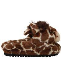 Dolce & Gabbana Giraffe Pantoffels - Bruin