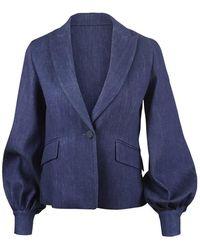 Sportmax Denim Jacket - Blauw