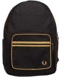 Fred Perry Men's Rucksack Backpack Travel - Zwart