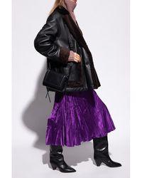 DIESEL Skirt with stitching - Violet