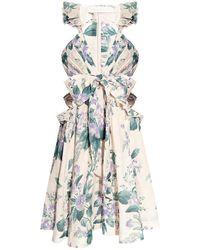 Zimmermann Patterned sleeveless dress - Neutro