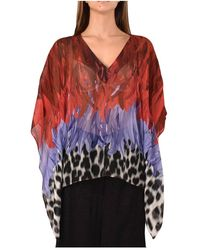Just Cavalli Blouse With Fantasy - Rouge