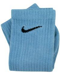 Nike Calzini Tie Dye Custom Monochrome - Blauw