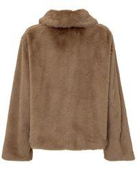 Stand Studio Marcella Fur Coat Beige - Neutro