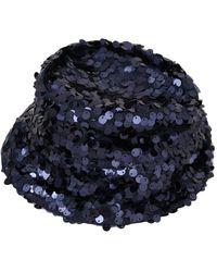 Dolce & Gabbana Sequined Bucket Hat - Blauw