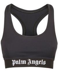 Palm Angels Classic Logo Sports Bra - Zwart