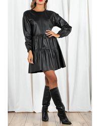 Arma Vestido de cuero Negro
