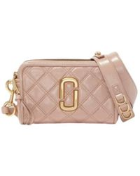 Marc Jacobs The Quilted Softshot Bag - Roze