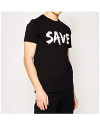 Save The Duck - T-shirt Negro - Lyst