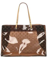 Louis Vuitton Crociera Cabas in vinile monogramma - Marrone
