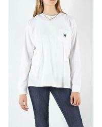 Carhartt WIP W' L/S Pocket T-Shirt Blanco