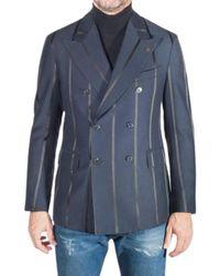Gabriele Pasini Double-breasted Pinstripe Jacket - Blauw