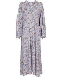 Neo Noir Miles Floral Garden Dress 153516 - Blauw