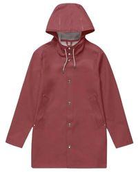 Stutterheim Raincoat Stockholm - Rot