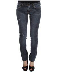Roberto Cavalli Blend slim fit jeans - Bleu