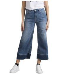 Liu Jo Jeans Cropped vivid Vita Alta - Blu