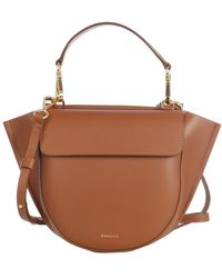 Wandler Mini BAG With Gold Insert - Marrone