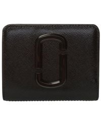 Marc Jacobs The Snapshot Wallet With Logo - Zwart