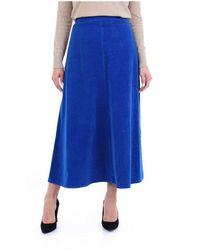 Forte Forte Long Skirt - Bleu
