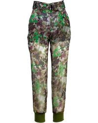 Mr & Mrs Italy Blossom Camouflage Pants - Verde