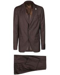 Lardini Suit - Bruin
