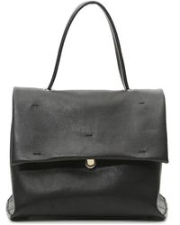 Campomaggi Cartella Skin Bag With Flap - Zwart