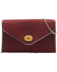 Dior Oblique Canvas Chain Shoulder Bag - Rosso