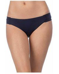 Trina Turk Bikini Bottom Shirred Side - Zwart