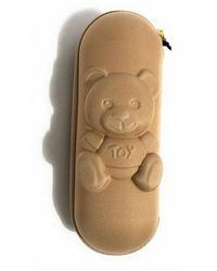 Moschino Ombrello retraibile Shadow bear supermini O22Mo14 8042 Beige - Neutro