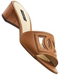 Dolce & Gabbana Mules aus Kalbsleder - Braun