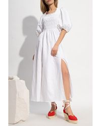 AllSaints Livi ruched dress Blanco