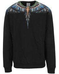 Marcelo Burlon Sweatshirt Cmba009F21Fle003 - Schwarz