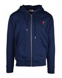 AMI Zipped Sweatshirt - Blauw