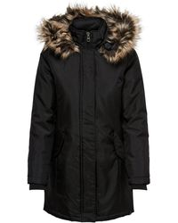 ONLY Parka coat solid - Nero