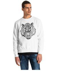 Horspist Antony Morato Sweatshirt With Tiger Print - Weiß