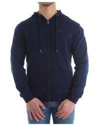 Emporio Armani Zip Sweater - Blauw
