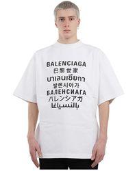 Balenciaga Branded T-shirt - Wit