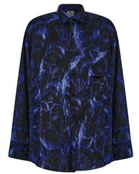 Vetements Skull-print Long-sleeve Shirt - Blauw