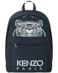 KENZO Backpack With Tiger Motif - Blauw