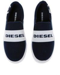DIESEL Deslizar el pie dentro de los zapatos Azul