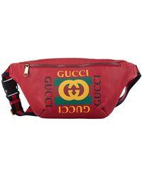 Gucci Leren Heuptas Met Logo - Rood