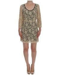 Dolce & Gabbana - Floral Lace Korte Mini Shift Jurk - Lyst
