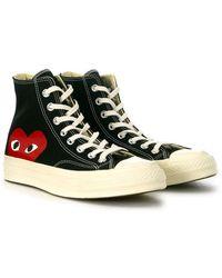 COMME DES GARÇONS PLAY Big Heart High Top Sneakers Negro