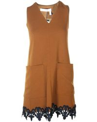 See By Chloé Dress With Lace - Bruin